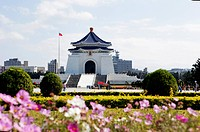 The Chiang Kai_shek Memorial Hall in the sunlight, Taipei, Taiwan, Asia
