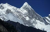 Namche Barwa Namjagbarwa mountain, view from Tripe, Himalayas, Tibet