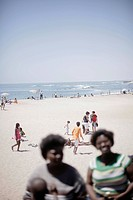 People on the beach, Palm Beach, Swakopmund, Namibia, Africa