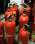 A number of fire_extinguishers.