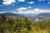 Castlegar, British Columbia, Canada, mountains, town