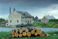 Bellamy&#171;s Steam Flour Mill, Upper Canada Village, Morrisburg, Ontario, Canada