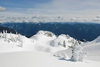 The view looking east from First Pump Peak on Mt Seymour Mt Seymour Provincial Park Vancouver BC Canada
