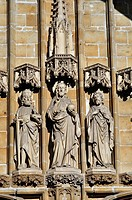 Belgium, Flanders, Ghent, Saint Bavo Cathedral, Detail Facade