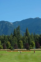 Kootenay Springs golf course at Crawford Bay, British Columbia, Canada