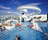 Iceland _ Group of people in a swimming pool