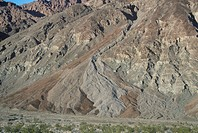Debris flow or alluvial fan, Death Valley, California, USA.