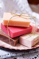 Different types of soap.
