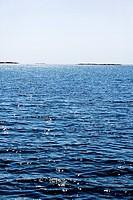 Blue and glittery ocean Sweden.