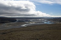 Braided River Bed on the Cunningham River, Somerset Island, Nunavut, Canada.