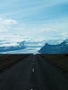 A glacier Vatnajokull Iceland.