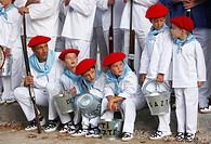 ´Alarde´ festival, Hondarribia, Guipuzcoa, Basque Country, Spain