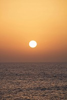 Sunset the Canary Islands.