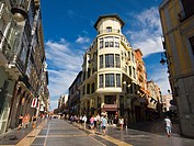 Building in the corner between Calle Ancha and Calle Varillas streets, Leon, Castilla-Leon, Spain
