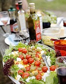 Salad with tomatoes feta and olives Sweden.