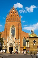 Dominican church exterior Krakow Poland Europe