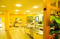 Photo essay at the hospital of Meaux 77, France. Self_service canteen for the hospital staff.
