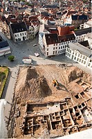 Excavations  view at Gent, Belgium