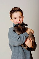 Boy with a Bunny