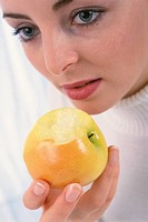 WOMAN EATING FRUIT Model