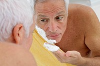 FACE CARE, ELDERLY PEOPLE Model.
