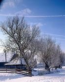 Snowy farm