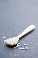 Sea salt on a spoon
