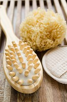 Massage brush and sponge