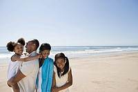 African american family on a beach (thumbnail)