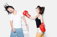 Couple boxing