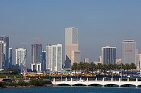 Buildings in a city, Miami, Florida, USA