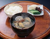 Clams in Miso soup
