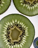 Studio shot of kiwi slice
