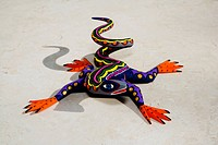 Close_up of a Mexican alebrije