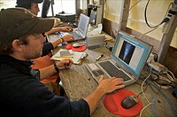 Alaska Dept.of Fish & Game Portage Creek Sonar station, Nushagak River, Western Alaska