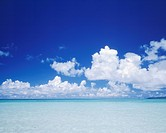 Sea and clouds. Taketomijima, Okinawa Prefecture, Japan,