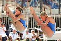 francesca dallapè and tania cagnotto, roma 2009, fina world championship