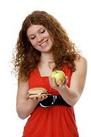 Hamburger oder Apfel