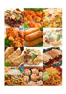 Montage of Asian style dishes