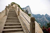 Asia, China, Shanxi, Huayin, Huashan Mountain, North Peak, The Ear_rubbing Cliff