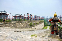 Asia, China, Jiangsu Province, Nanking, China Gate, Ancient Wall
