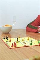 Ludo Game on a Table