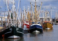 Shrimp boats, Norddeich, East Frisia, Lower Saxony, Germany