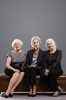Three stylish senior women