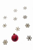 Bauble and snowflake decorations
