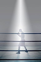 Boxer in boxing ring (thumbnail)
