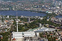 Heinrich_Hertz_Tower, Hamburg, Germany, Aerial View