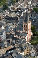 St. Peter, Bacharach, Germany, bird´s eye view