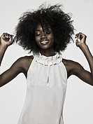 Beautiful young woman with an afro (thumbnail)