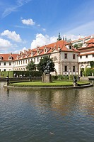 czech republic, europe, walenstein palace, fountain, Historic Centre of Prague, UNESCO, World Heritage